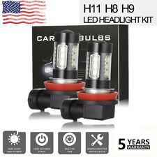 H11 H8 H9 LED Headlight Super Bright Bulbs Kit 330000LM High/Low Beam 6000K 2PCS