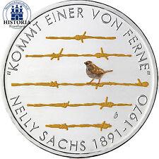 Germania 20 Euro moneta ARGENTO 2016 BFR 125 compleanno di Nelly Sachs in colore