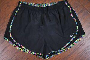 Nike Dri-Fit Tempo Lined Shorts Black Women's XL