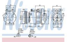 NISSENS Compresor, aire acondicionado KIA CEED HYUNDAI i30 ACCENT 89292