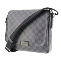 LOUIS VUITTON  Damier Graphite District PM Shoulder Bag N41260 Auth #OO199 S