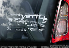 Sebastian Vettel #5 - Car Window Sticker - Seb Ferrari F1 2015 Formula 1 - V03