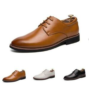 British Mens Leather Pointy Toe Wedding Dress Formal Business Casual Work Shoes