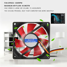 2xQuiet 8cm/80x80x25mm 12V 4pin 1200RPM Computer/PC/CPU Silent Cooling Case Fan