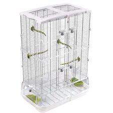 "34""H Medium Bird Cage Perch Stand Finch Parakeet Canary Flight Cage Pet Supply"