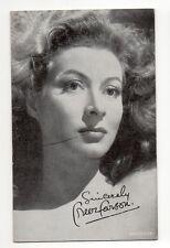 Greer Garson 1940's 1950's Actor Film Star Salutations Exhibit Arcade Card