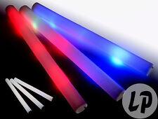Lot de 10 baton lumineux mousse tap tap 48cm LEDs ROUGE-supporter sport