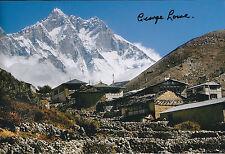 George LOWE SIGNED Autograph Photo AFTAL COA EVEREST Explorer Himalaya Scene