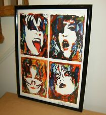 Kiss Paul Stanley Gene Simmons Ace Frehley Peter Criss Poster Print Art 18x24