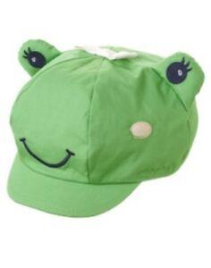 GYMBOREE FLOWER SHOWERS GREEN FROG CAP HAT 0 12 24 2T 3T 4T 5T NWT