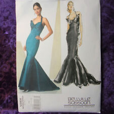 Vogue 2931 Bellville Sasson Fitted Formal Gown Design Sewing Pattern 18-22
