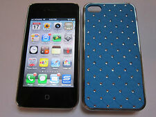 Light Blue Diamond BLING Designer Luxury Glitter iPhone 4 4G 4S Full Back Case