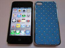 Light Blue Diamond BLING Designer Luxury Glitter iPhone 4 4G 4S Full Back Case