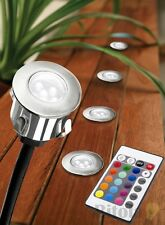 6 PACK 16 COLOURS CHANGING STAINLESS STEEL LED DECK LIGHTS DIY MUSGRAVE RGB