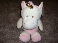 """Kelly Baby 20"""" Plush Unicorn Toy Stuffed Animal Ivory Pink Rattle Girls NWT VHTF"""