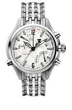 TIMEX TX WORLDTIME 500 SERIE T3B821 (Edelstahlband, Zifferblatt weiß)