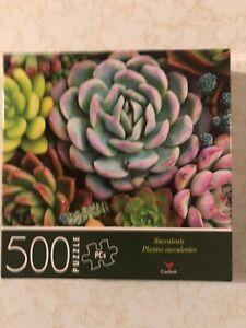 "Jigsaw Puzzle SUCCULENTS 500 Pieces 14"" x 11"" Cardinal"
