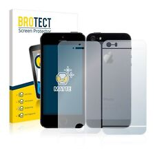 Apple iPhone 5S (Front+Back) , 2x BROTECT® Matte Screen Protector anti-glare