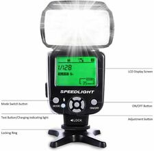 Beschoi L541 Speedlite Flash On-camera Flash with LCD Display for DSLR Cameras