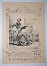 SALON COIFFURE Lithographie GAVARNI Gravure MUSEE RIRE Coiffeur 1840