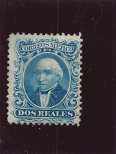 Mexico 1860 2r two reales stamp MM rare high cat value SA