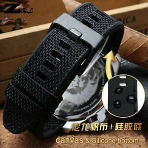 Canvas Watchband Double Layer Strap Watchband 24mm 26mm 28mm For Diesel Watch