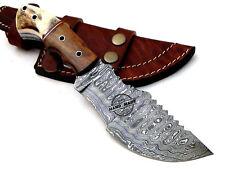 Hermosa hecha a Mano Personalizada Damasco cuchillo machete caza Rastreador de acero 1549