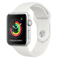 Reloj de Apple serie 3 42mm GPS-banda De Deporte Color Blanco Plateado