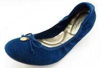 Dexflex comfort Size 11 M Blue Round Toe Ballet Fabric Wmn
