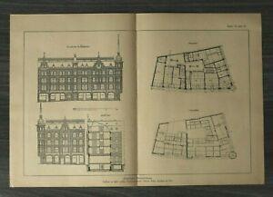 GFA) Blatt Städtisches Geschäftshaus 1926 Architektur Werner Issel Grundriss ++