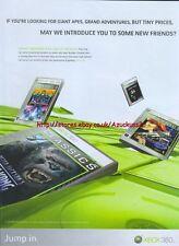 "Giant Apes Grand Adventures But Tiny Price ""Xbox 360"" 2006 Magazine Advert #4718"