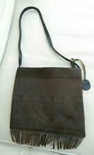 Debenhams small Brown Leather/pony Skin Embossed Shoulder Bag. New Without Tags