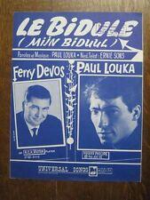 PARTITION MUSICALE BELGE PAUL LOUKA LE BIDULE