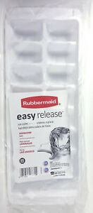Rubbermaid Ice Cube Tray, Easy Release, Plastic, White, 16 Cubes