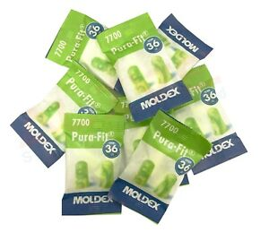 10 Pairs of Moldex Pura-fit 7700 earplugs Soft foam Ear Plugs SNR:36db PVC free