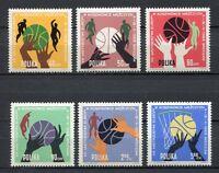 35704) Poland 1963 MNH European Men'S Basketball Champ
