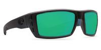 COSTA RAFAEL MATTE BLACK TEAK GREEN MIRROR 580P PLASTIC RFL 111 OGMP