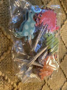 24 Pieces Cupcake Topper Cake Picks DINOSAURS