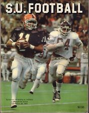 Syracuse vs. Indiana 1981 Dave Warner Football Program 071517nonjhe