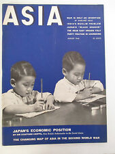 Aug 1940 ASIA MAGAZINE; Japan, Black Dragons, Big Buddha's Fair, India, etc