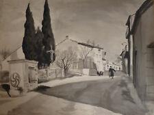 Serge FRIEDBERGER (1902-42) Encre lavis 1938 Ecole de Paris Prix de Rome Brayer