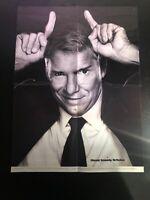 WWE Magazine Vince McMahon Folded Poster Devil Ears