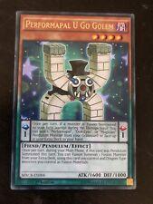 Performapal U Go Golem Yugioh Card Genuine Yu-Gi-Oh Trading Card