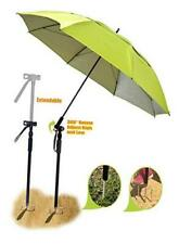 Large Windproof Beach Umbrella, 7 ft UV Protection Portable Umbrella with Sand