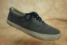 Sperry Topsider Gray Canvas Lace Up Casual Oxford Sneakers Shoes Men Size 10M US