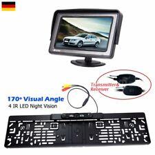 "Funk Rückfahrkamera 170° 4 IR LED Nachtsicht Nummernschild+4,3"" Auto LCD Monitor"