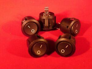 Qty 5 HD New Rocker Switch On-Off  10A 115V 6A 250V SPST 2 Terminal Car/Boat/ATV