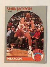 MARK JACKSON 90/91 NBA HOOPS #205 NEW YORK KNICKS MENENDEZ BROS. COURTSIDE