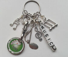 Personalised Music Themed Keyring Key Ring Gift - Poker Trolley Token