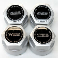 "87-92 Trans Am WS6 16"" Wheel Center Cap Set of 4 Silver with Black CM612SET"